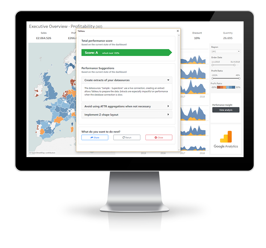 Performance Insight - A Free Tableau Extension to measure and improve dashboard performance