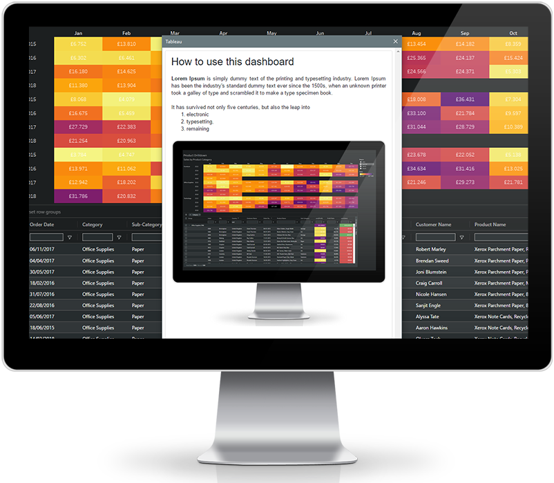 DashboardGuide Tableau extension by AppsforTableau to create and share rich help dialogues in your tableau dashboards