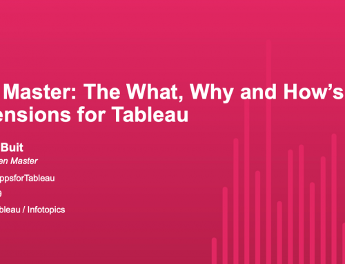 TC19 – Zen Master: The What, Why and How's of Extensions for Tableau