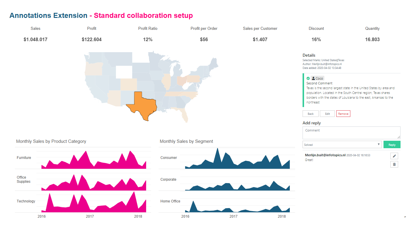 Annotations extension for Tableau Dashboards - Annotate Comment and reply with this Write Back extension for Tableau