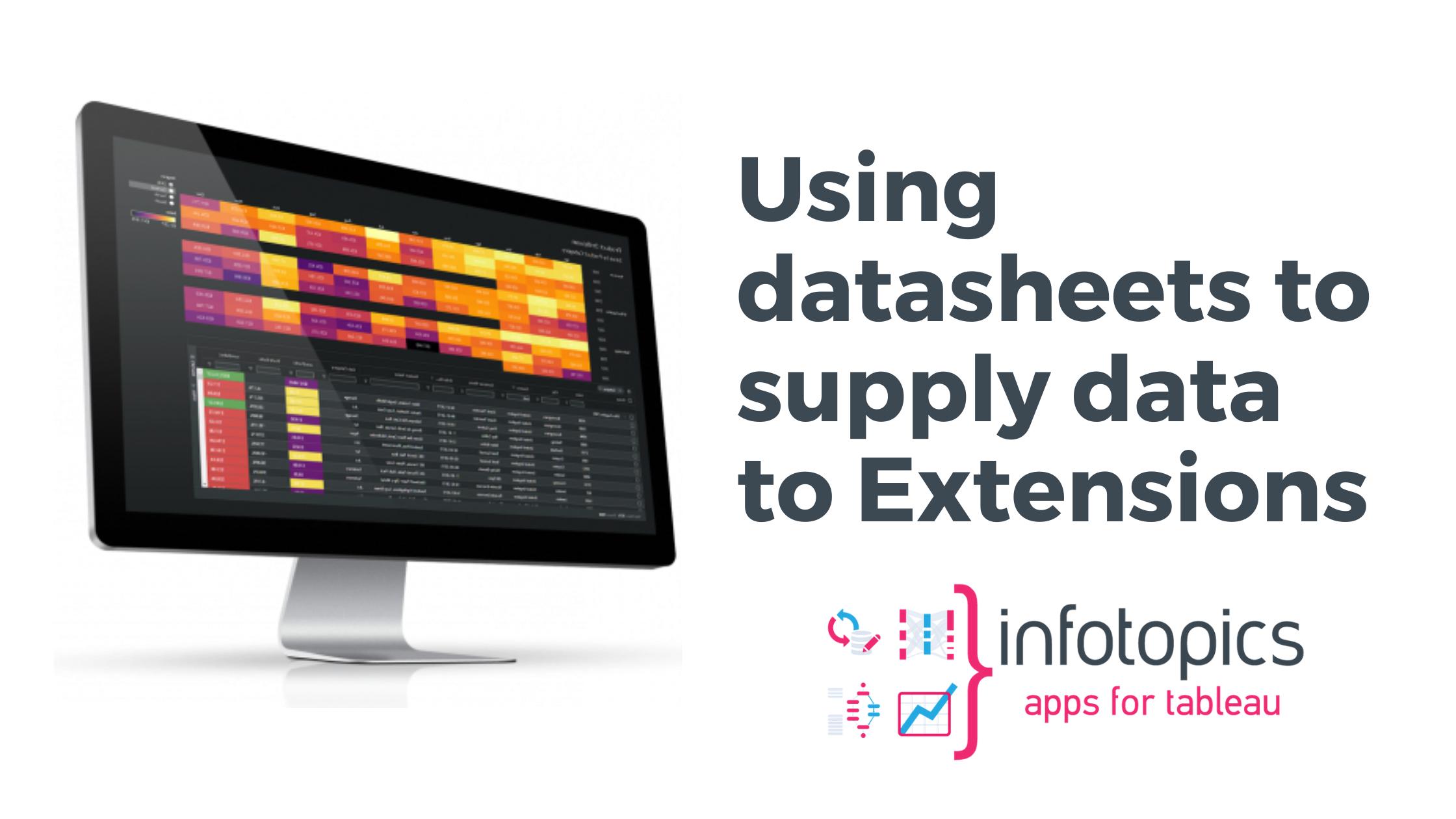 Datasheets to supply data