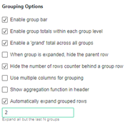 Automaticaly expand grouped rows SuperTables