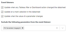 Exclude event listener in SuperTables