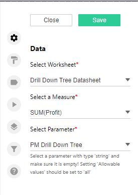 Tab 1 Configuring in DrillDownTree